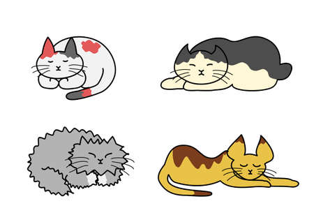 short haired: sleeping cats