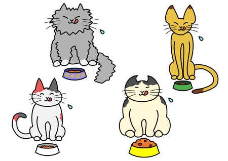 lengua larga: gatos que comen