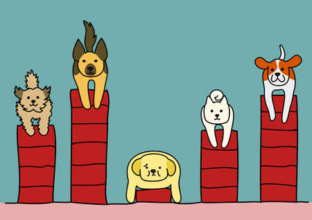 unhealthiness: obesity dog among with other dogs