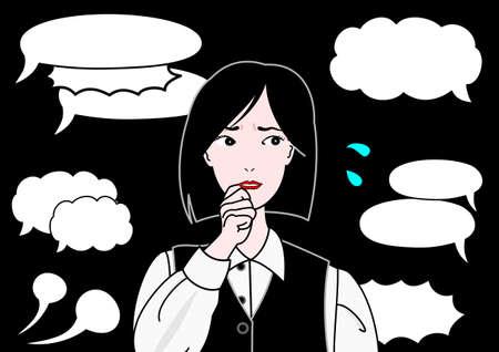 Frau besorgt über Kritik