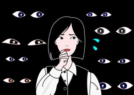 third eye: watching eyes Illustration