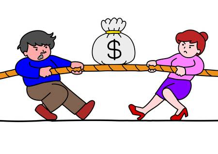 whole body: tug of war for money
