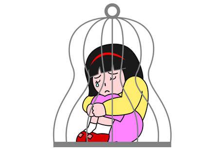 shut up: restraint Illustration