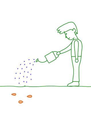 watering seeds