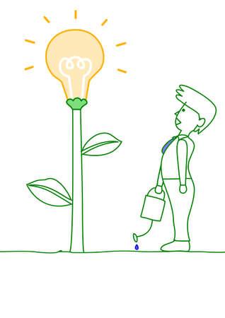 bloom idea Vector