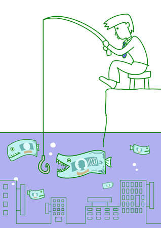 money fishing Vector