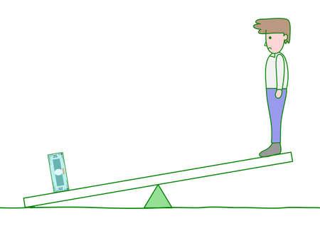 biased: seesaw, money is heavier than man