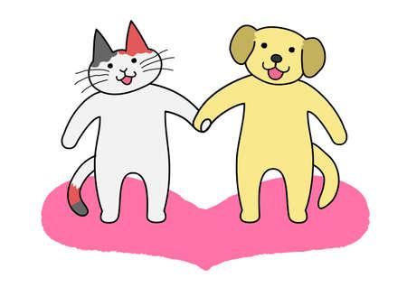 犬と猫の押し手
