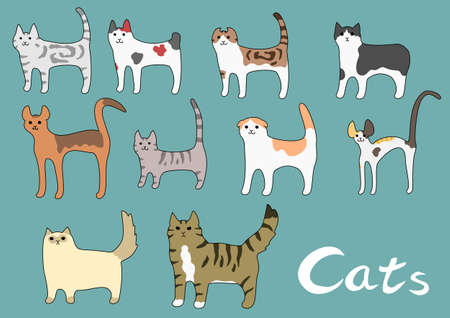 Various kinds of cat Vector