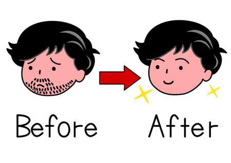 beard man: beard man and no beard man