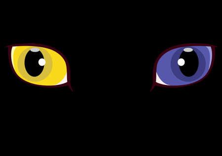 heterogeneous: yellow and blue Odd-eyed