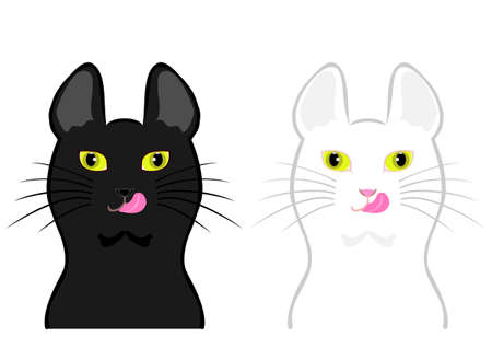 licking: cats licking their chops