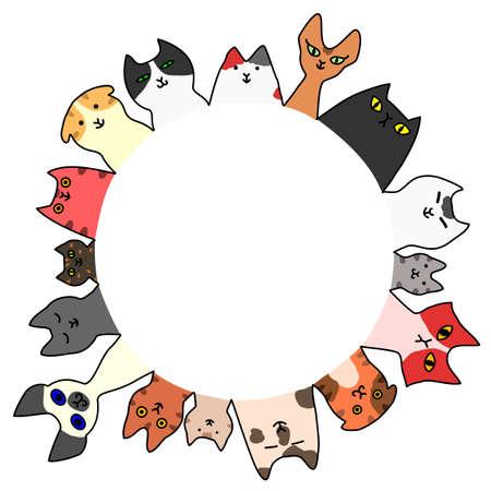 コピー スペースを持つ猫円