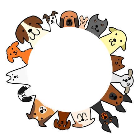copy: dogs in a circle with copy space