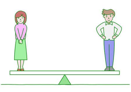 男女共同参画  イラスト・ベクター素材