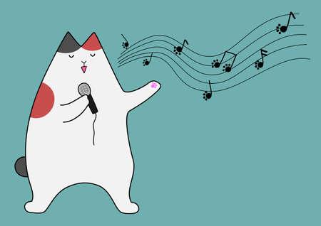 bipedal: singing cat