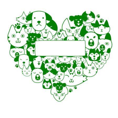 Heartshape で犬や猫の顔