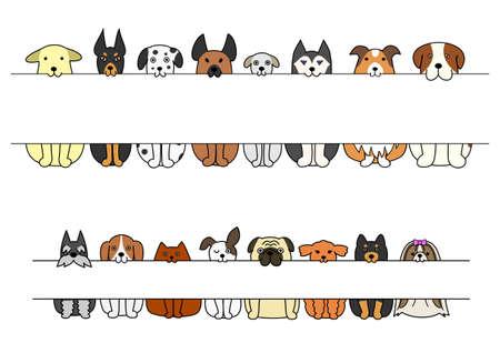 Assis chiens en pension dans leur bouche Banque d'images - 41741884