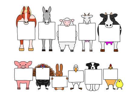 Livestocks met planken