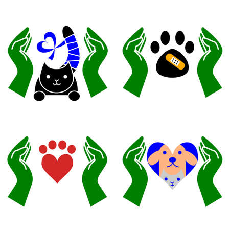 veterinary icon: set of veterinary icon