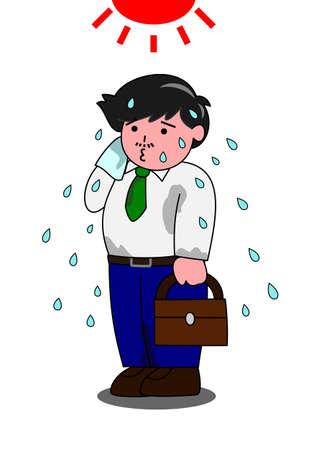 sweaty: Sweaty man