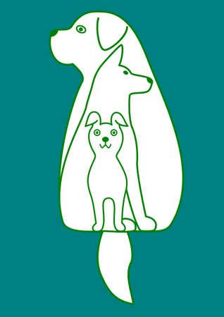 medium body: three dogs nesting