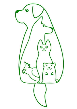 st bernard dog: pets nesting
