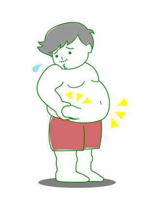 cuerpo hombre: Hombre obeso Vectores