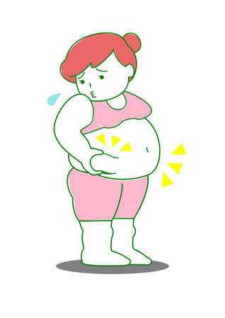 pinch: Obese woman Illustration