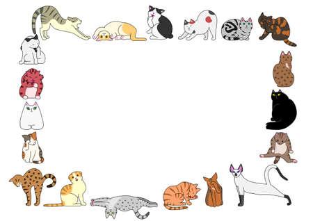 frame of cats Фото со стока - 48619806