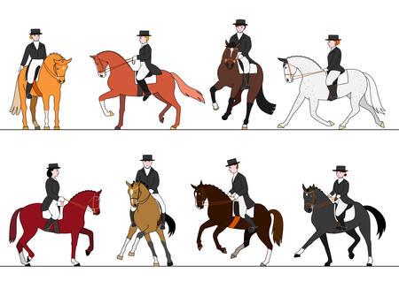 reins: dressage action set