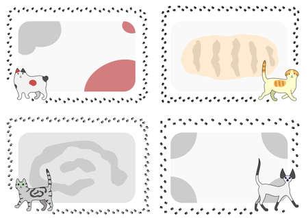bobtail: Cat footprints frame