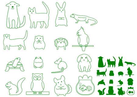 various pet animals