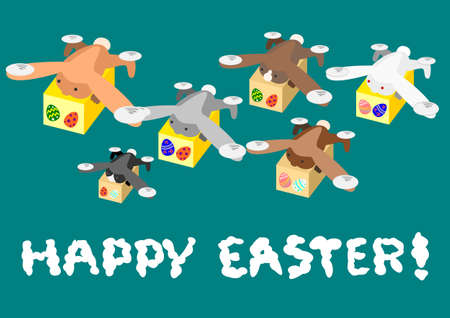 may fly: Rabbit drone carrying the Easter Egg