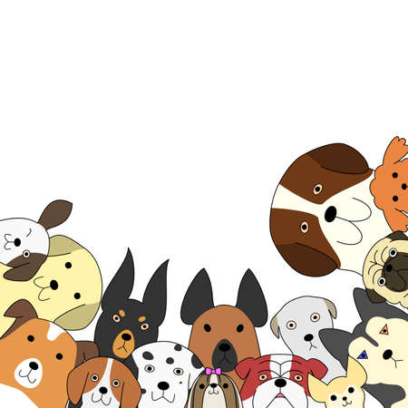Cute dogs card Reklamní fotografie - 57993131