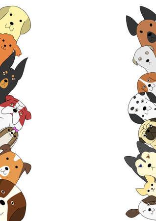 Cute dogs card