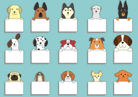 Cute dogs card set
