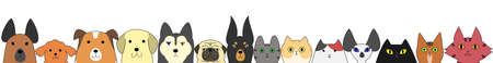 Dogs and cats banner
