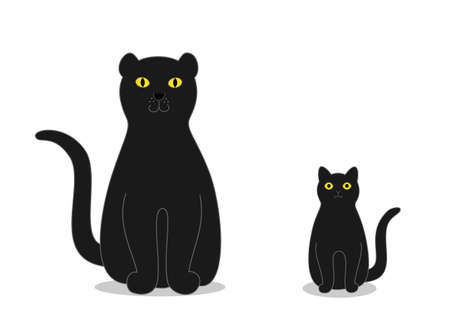 black panther: black panther and bombay cat