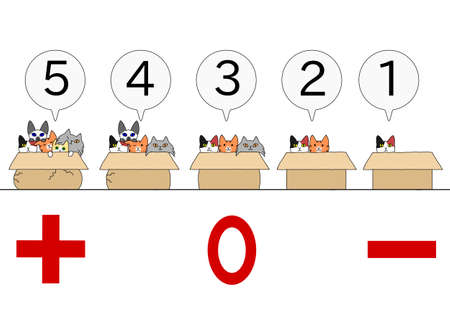 forced: cat increasing in the box Illustration