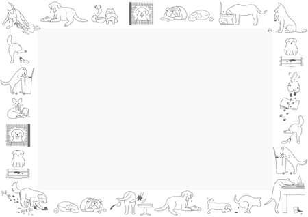 Marco de malos perros Ilustración de vector