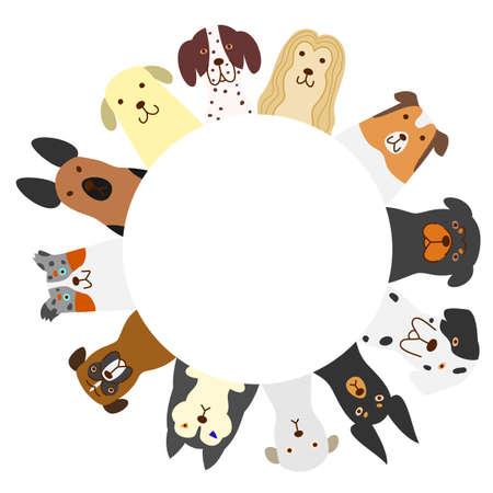 dogs circle Illustration