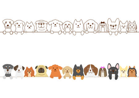 Small dogs border