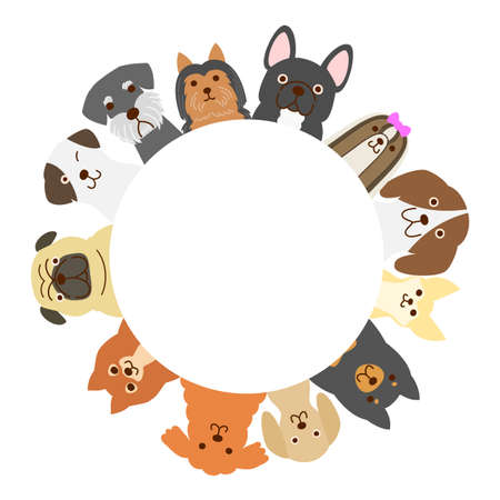 Small dogs circle Illustration