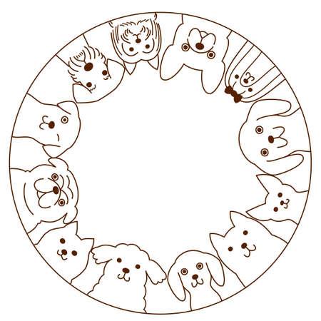 schnauzer: Small dogs circle Illustration