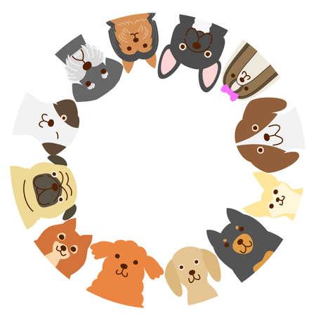 小型犬サークル  イラスト・ベクター素材