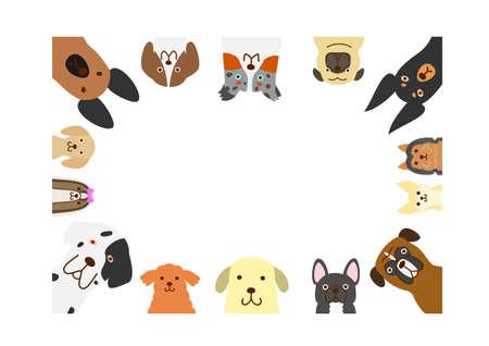grote en kleine honden rechthoekframe