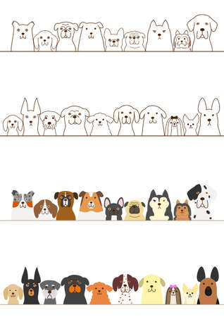 dogs border set