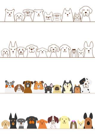 honden die grens