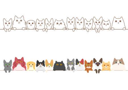 Katzen Grenze gesetzt